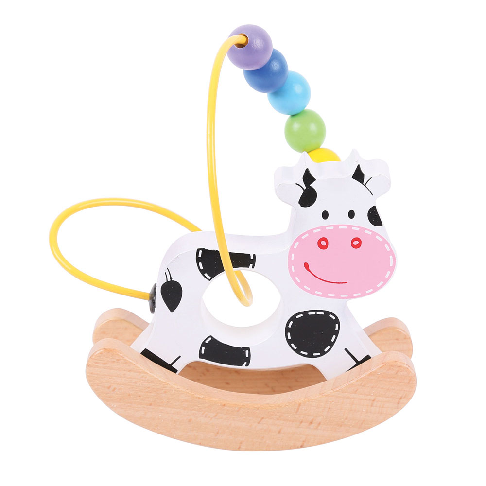 Cow Wooden Rocking Bead Frame