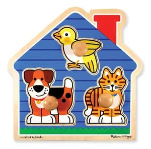Large Peg Puzzle House Pets
