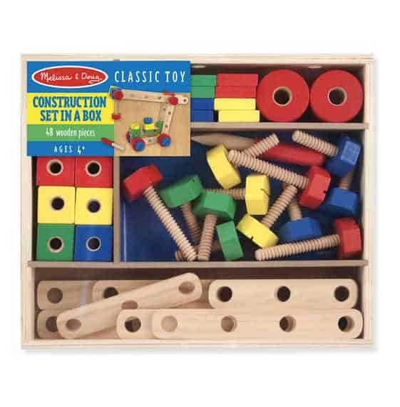 Wooden Construction set i a box