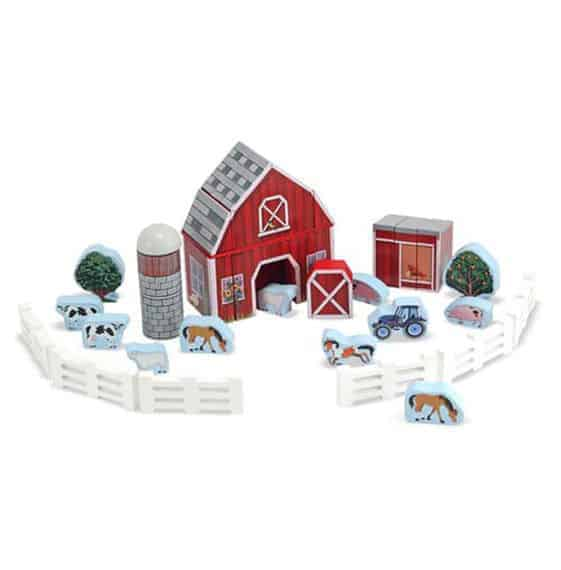 Wooden Farm Blocks Play Set