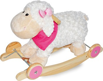 Rocking sheep and ride on wooden toy