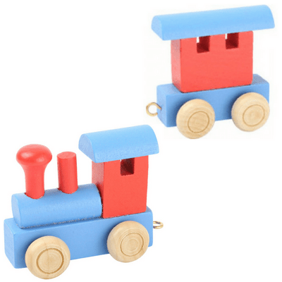 Name train blue and red engine and fender